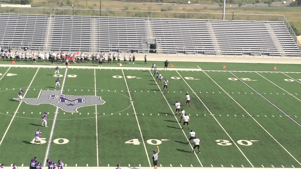 San Marcos Texas high school football freshman white 83 yard kick ...