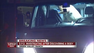 Death investigation in Green Valley Ranch