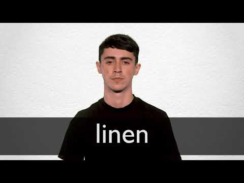 How to pronounce LINEN in British English
