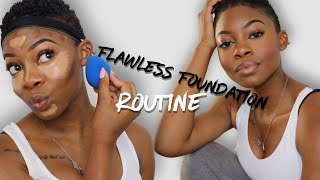 FLAWLESS Foundation & Contour Routine Step By Step for Beginners