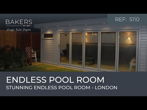 Stunning endless pool room 5110 In London By Bakers Timber Buildings