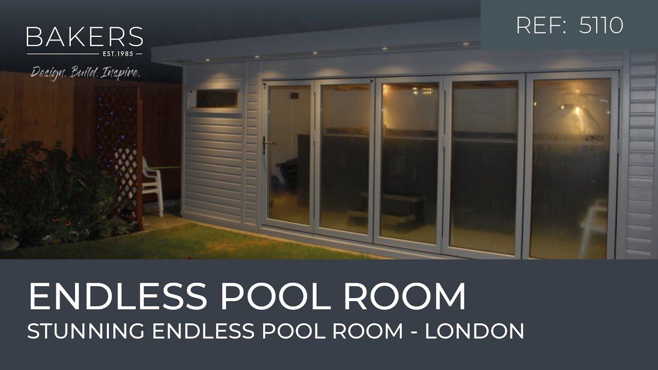 Stunning endless pool room - YouTube