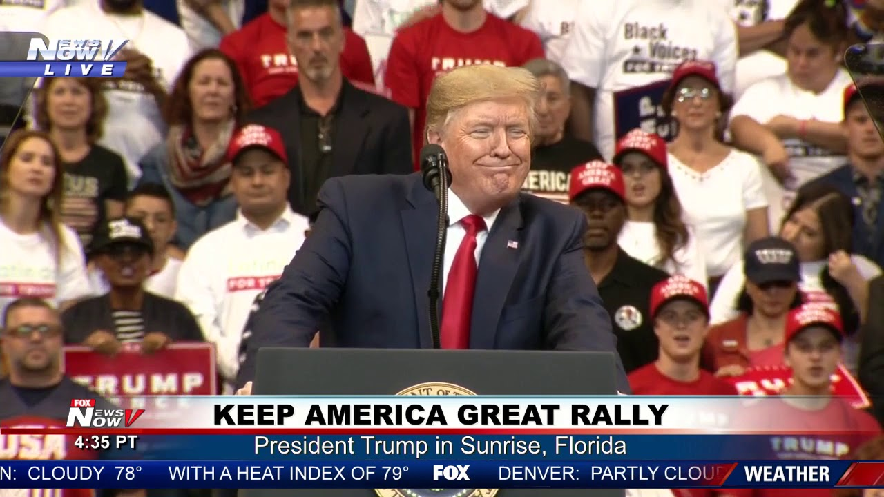Image result for images trump SUNRISE florida rally
