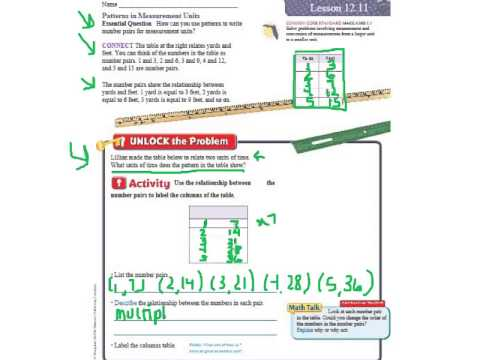 Go Math 12.11 Patterns in Measurement Units - YouTube