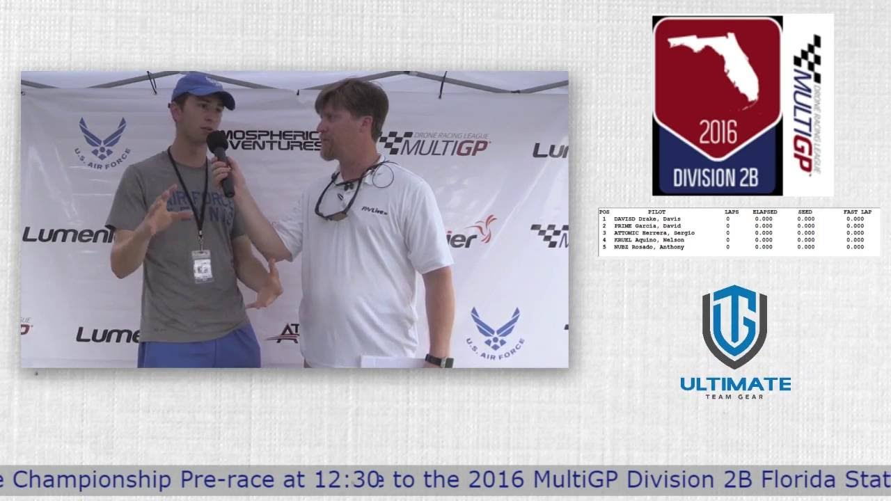 2016 MultiGP 2B Florida Finals Tyler Brennan Interview