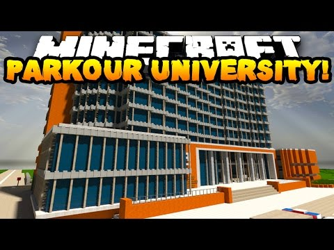 Minecraft PARKOUR UNIVERSITY! (CAN'T STOP LAUGHING!!) w/PrestonPlayz & Kenny