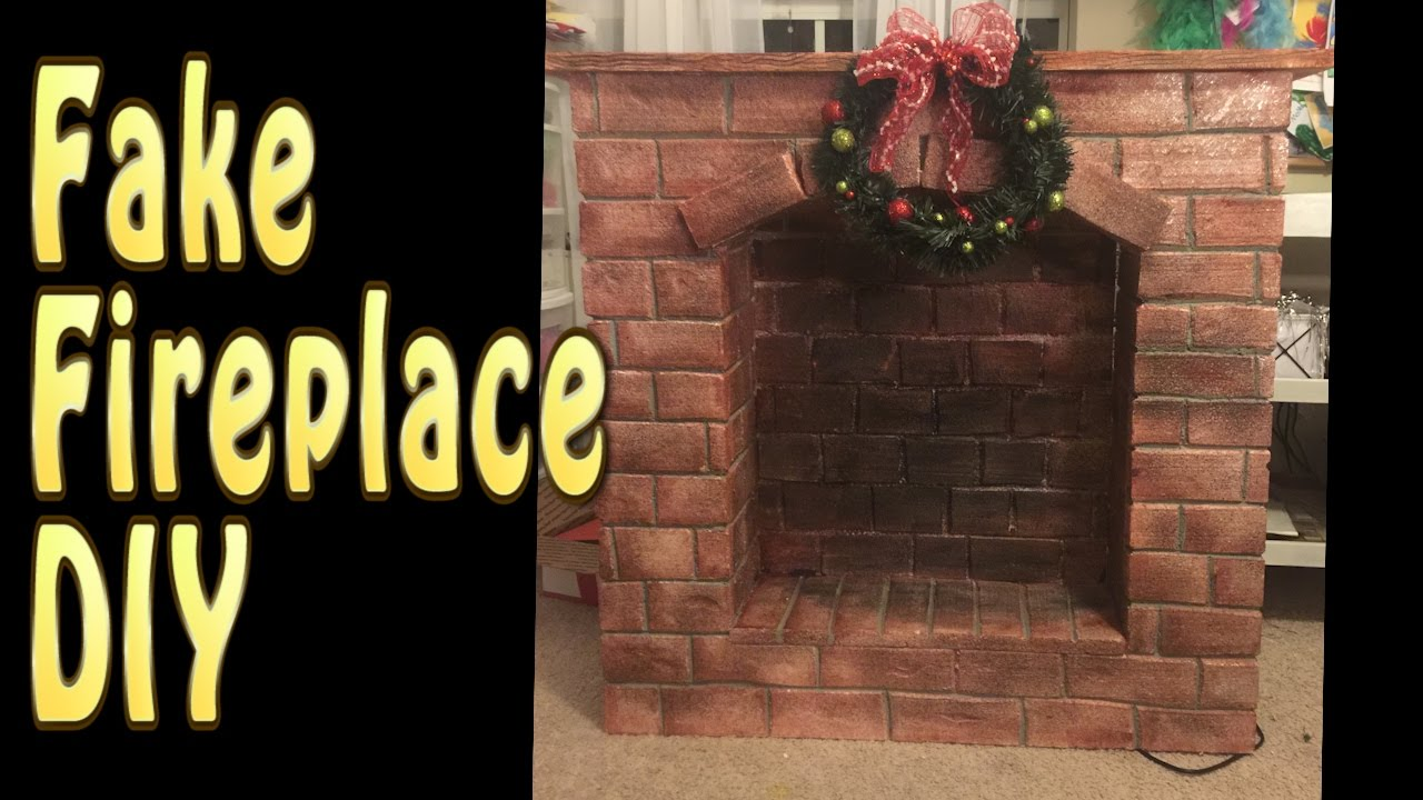 craft diy fake fireplace tutorial cup n cakes gourmet youtube