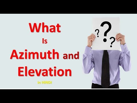 What Is Azimuth and Elevation in HINDI