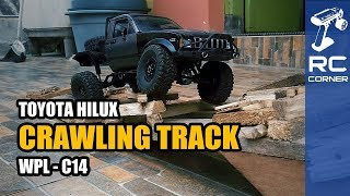WPL C14 - Crawling Track at Home | RC Offroad Adventure