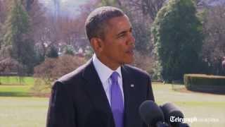 President Obama announces new economic sanctions on Russia in retaliation for Crimea
