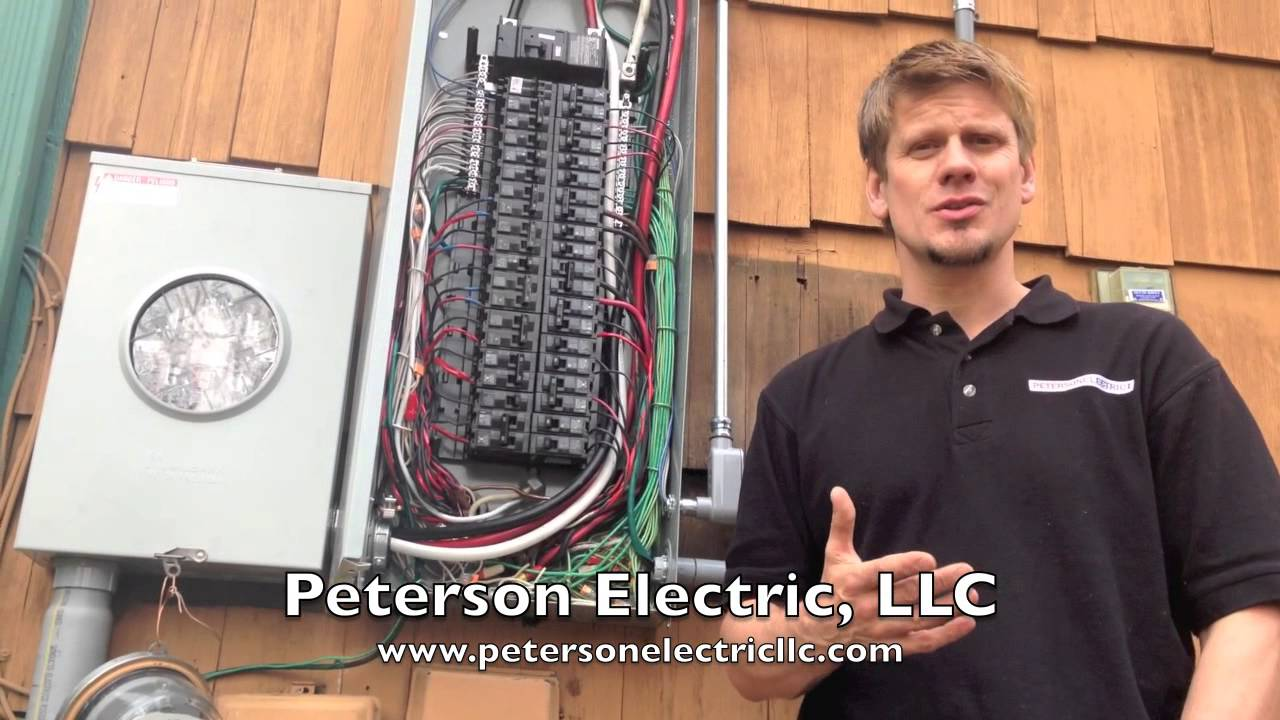 Electrical Service Change Upgrade How Arc Fault Breakers Affect It Circuit Breaker Wiring Diagram Youtube