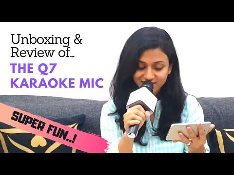 Unboxing & Review Of Q7 Karaoke Mic