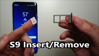Samsung Galaxy S9 / S9 Plus SIM Card & Micro SD How to Insert or Remove