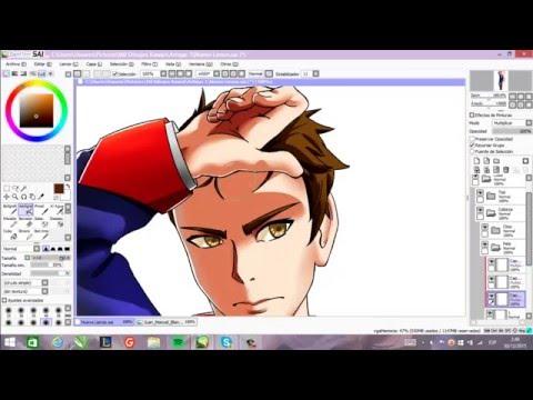 Speed painting- José Artigas anime versión-Paint Tool SAI