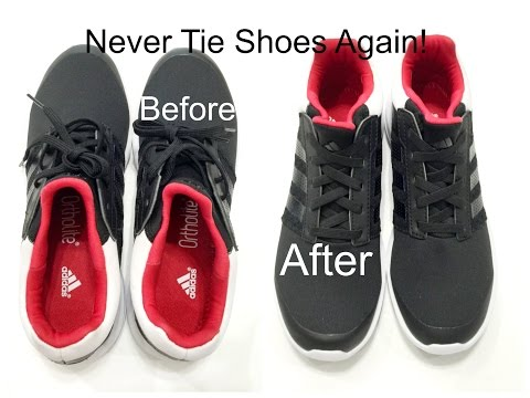 Never tie your shoes again! by DesiViva DIY ELASTIC SHOELACES
