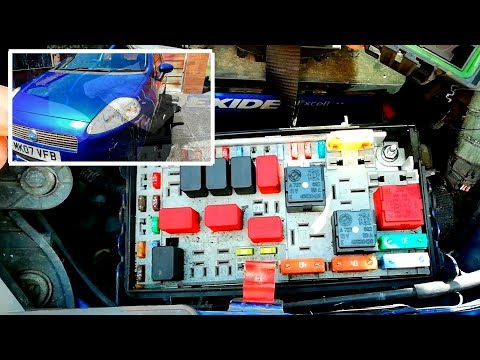 Fiat Punto Grande: Fuse Box Location. Interior and Exterior. - YouTubeYouTube