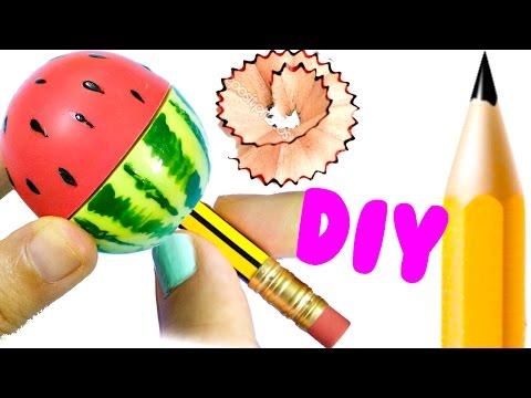 DIY SCHOOL SUPPLIES for Back to School | Easy & Cute WATERMELON SHARPENER