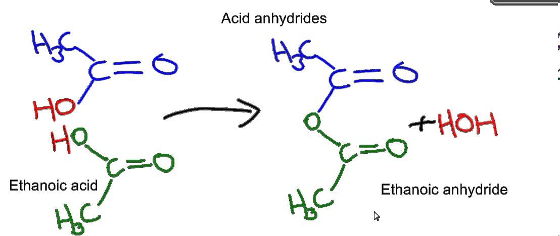 esters and acid anhydrides
