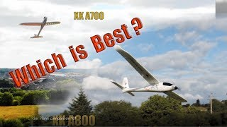Rc Glider Plane Comparison Which Is Better The Xk A700 Or A800 ?