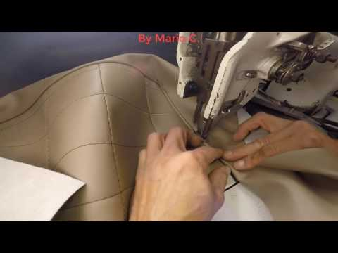 Learning how to sew different way to sew piping on vinyl part 11