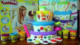 Kue Ulang Tahun dari Mainan Play Doh - Mountain Cake