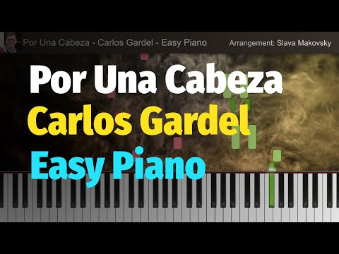 Por Una Cabeza - Tango (Carlos Gardel) - Easy Version for Piano