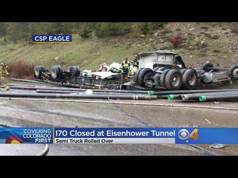 Semi Rollover Closes WB Lanes Of I-70