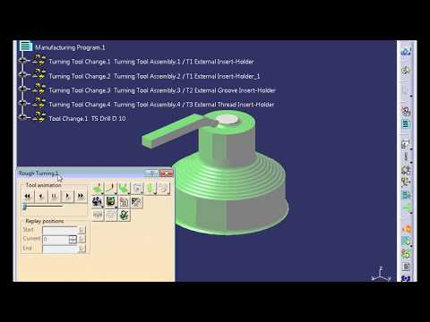 Tutorial virtual simulation of Lathe machining using CATIA