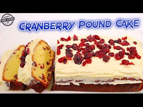 cranberry pound cake how to christmas dessert recipe youtube
