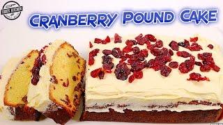 Cranberry Pound Cake - How to Christmas Dessert Recipe