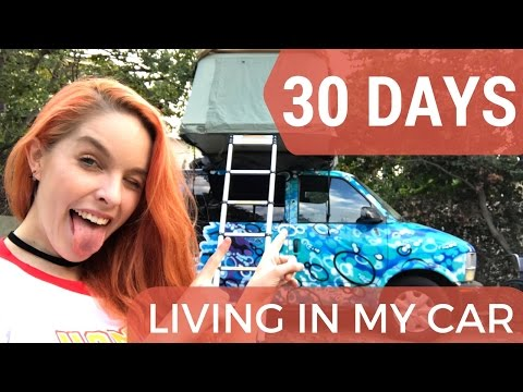 30 DAYS LIVING IN MY CAR #1 | Challenges