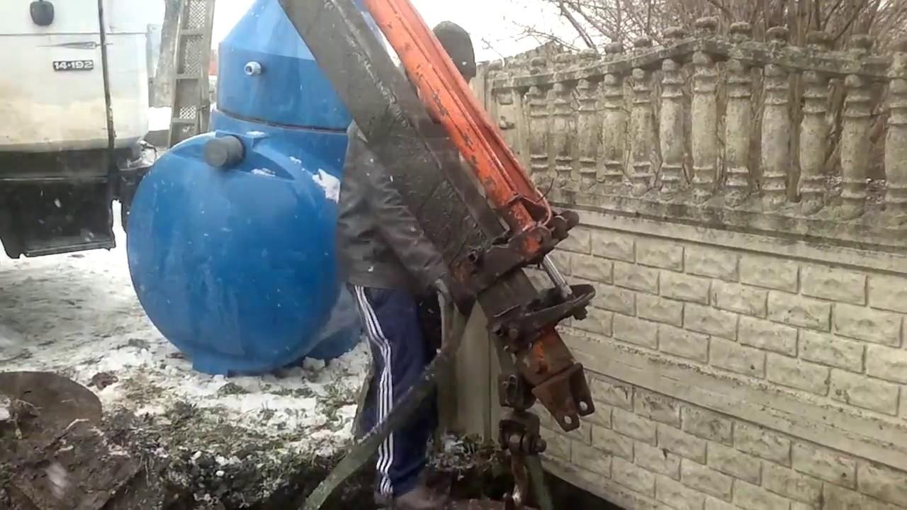 Монтаж станции биологической очистки «Дочиста ПРОФИ 6ПР»