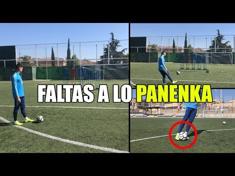 COMO CHUTAR FALTAS A LO PANENKA COMO LEO MESSI - FALTAS DIRECTAS CON ROSCA Y EFECTO
