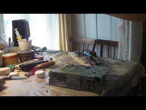 Ремонт автомагнитолы  SONY прибавляешь звук и магнитола выключается(уходит в защиту)