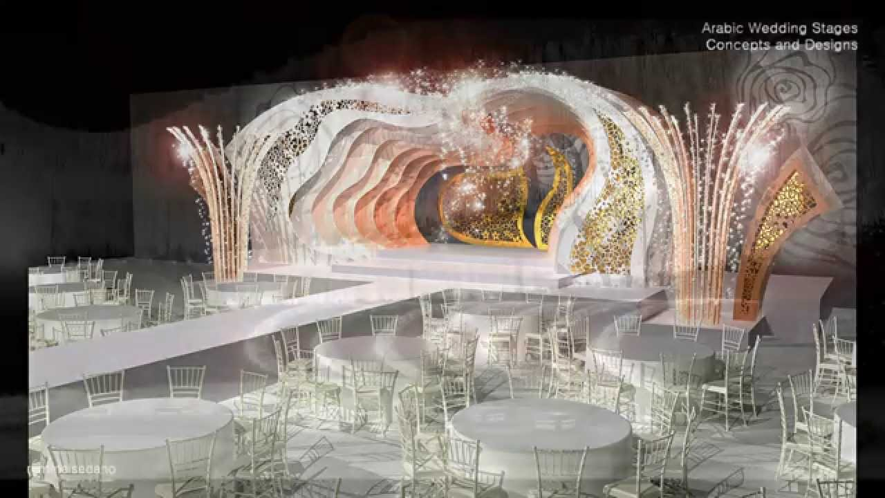 Arab wedding stages designs youtube for Arabic stage decoration