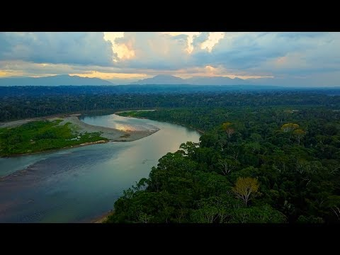 Sunset Drone Flight Deep In Amazon Jungle, Bolivia