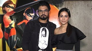 Hina Khan & Rocky Jaiswal at Incredibles 2 Screening