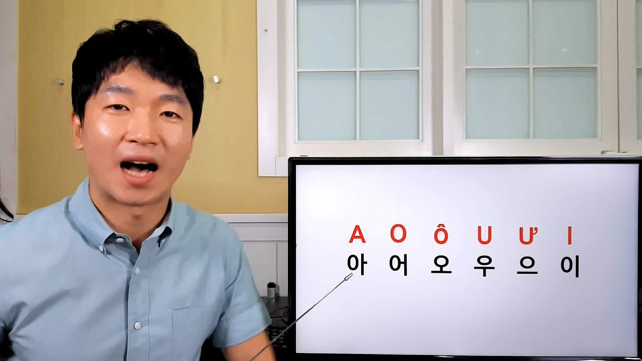 Bảng chữ cái tiếng Hàn Bài 1 – 아, 어, 오, 우, 으, 이, ㄱ, ㄴ, ㄷ, ㄹ