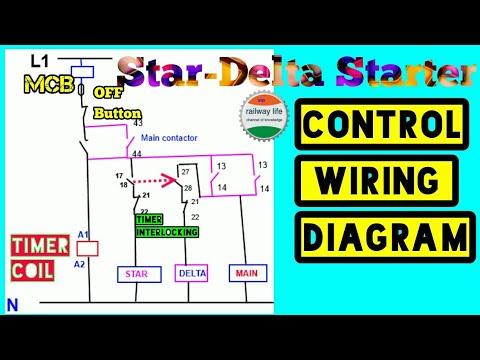 stardelta starter control diagram  wiring diagram
