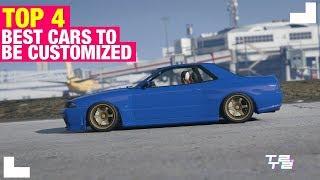 GTA Online :TOP 4 l Best Cars To Customized / Melhores carros para Customizar #1