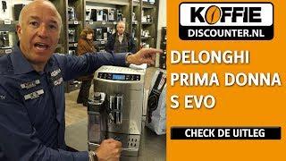 Uitleg DeLonghi prima donna S evo koffiemachine door Tom Coronel, Koffiediscounter