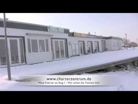 Schnee bei Yachtcharter Ostsee