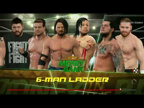 WWE 2K17(PC)-Money In The Bank Ladder Match 2017 Full Match[Crazy Match ]