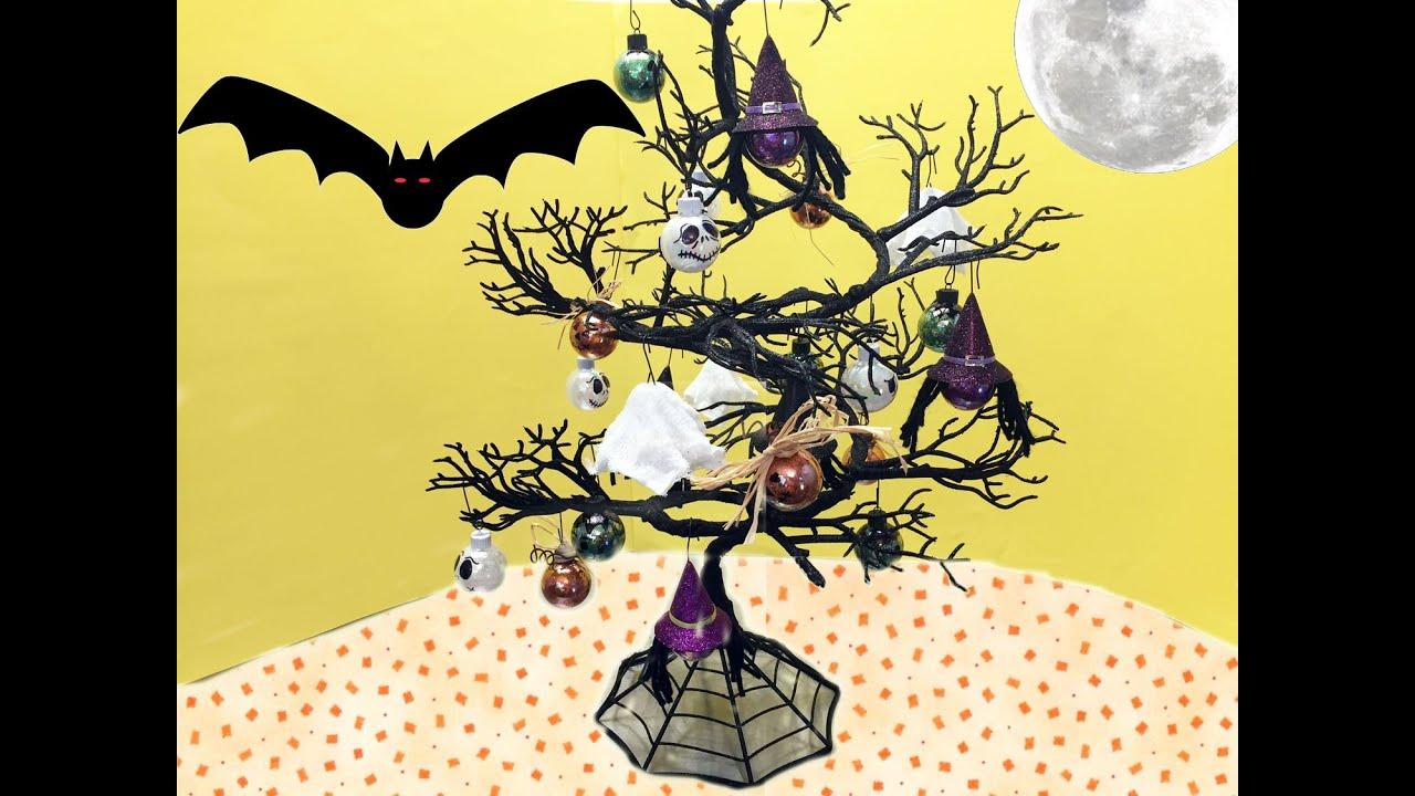 how to make halloween tree ornaments tutorial