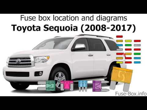 fuse box location and diagrams: toyota sequoia (2008-2017) - youtube  youtube