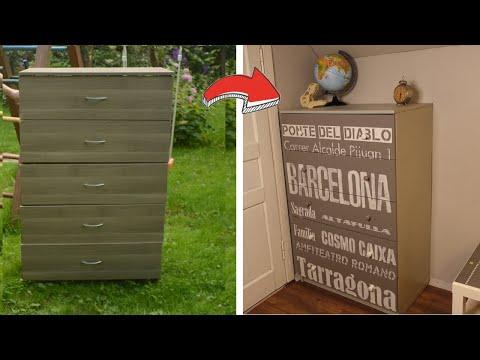 Вторая жизнь старых вещей / Переделка комода IKEA