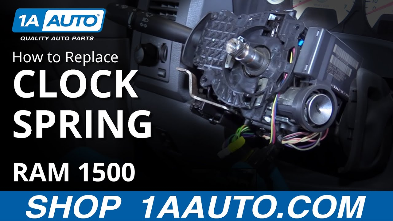 How to Install Replace Airbag Clock Spring 2008 Dodge Ram