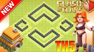 Clash of Clans || New BEST Th5 Trophy/War Base [2017] - Win Trophies, Defend Attacks | CoC