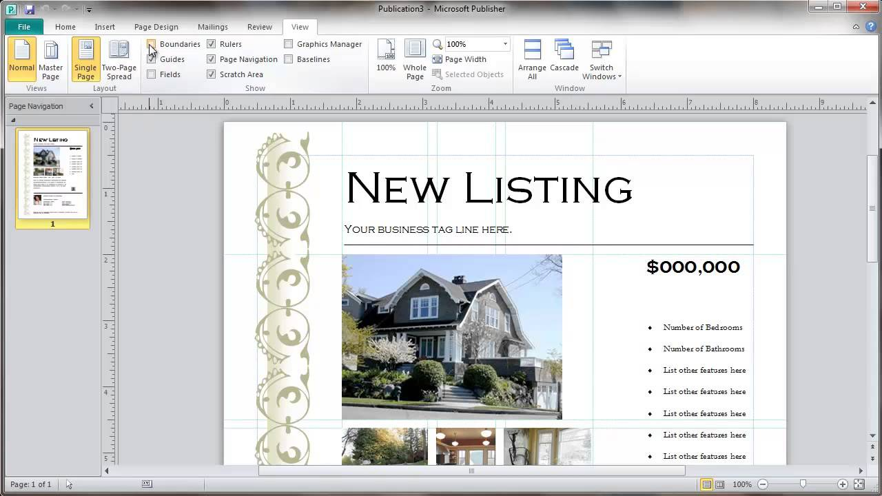 Real Estate Flyer Template Selection YouTube - Real estate flyer template publisher