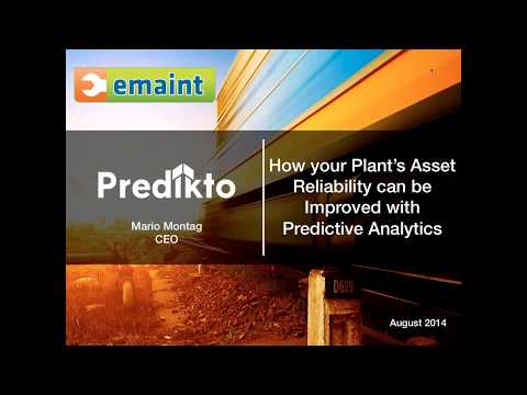 Webinar: Improving Your Plant's Asset Reliability with Predictive Analytics (PdA)